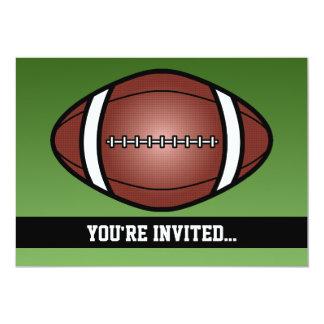 Anniversaire de rugby du football carton d'invitation  12,7 cm x 17,78 cm