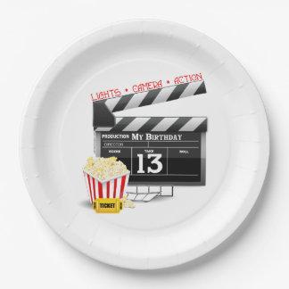 Anniversaire de thème de film 13ème assiettes en papier