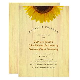 Anniversaire de tournesol réaffirmant l'invitation carton d'invitation  12,7 cm x 17,78 cm