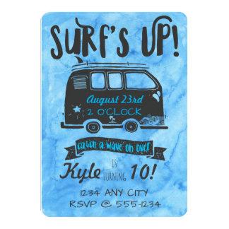 Anniversaire de Tween - thème de surf Carton D'invitation 12,7 Cm X 17,78 Cm