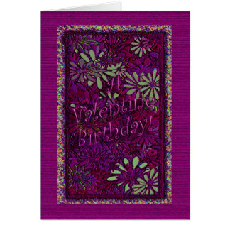 Anniversaire de Valentine ! - Vers à l'intérieur Carte De Vœux