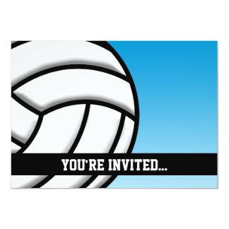 Anniversaire de volleyball carton d'invitation  12,7 cm x 17,78 cm