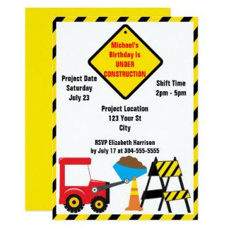 Anniversaire de zone de construction carton d'invitation  12,7 cm x 17,78 cm