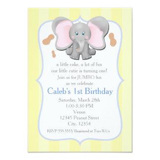Anniversaire d'éléphant de bébé ou invitation