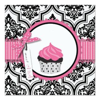 Anniversaire d'impression de petit gâteau et de carton d'invitation  13,33 cm