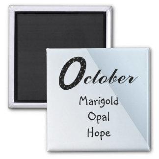 Anniversaire d'octobre aimant