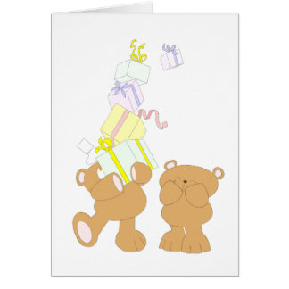 Anniversaire d'ours de nounours carte de vœux