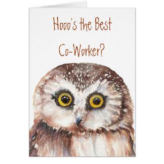 Anniversaire drôle de collègue, humour sage de carte de vœux