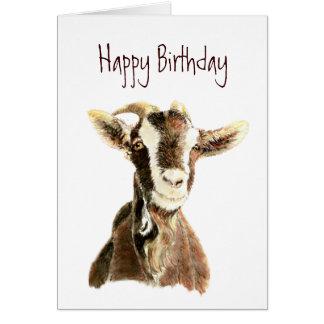 Anniversaire drôle, de la vieille chèvre qui vous carte de vœux