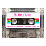 Anniversaire drôle d'enregistreur à cassettes du D Cartons D'invitation Personnalisés