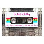 Anniversaire drôle d'enregistreur à cassettes du cartons d'invitation personnalisés