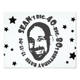 Anniversaire du Big-80s-Big-40 de Sean Carton D'invitation 10,79 Cm X 13,97 Cm