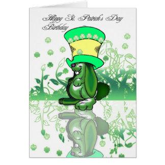 Anniversaire du jour de St Patrick de houblon, Carte De Vœux