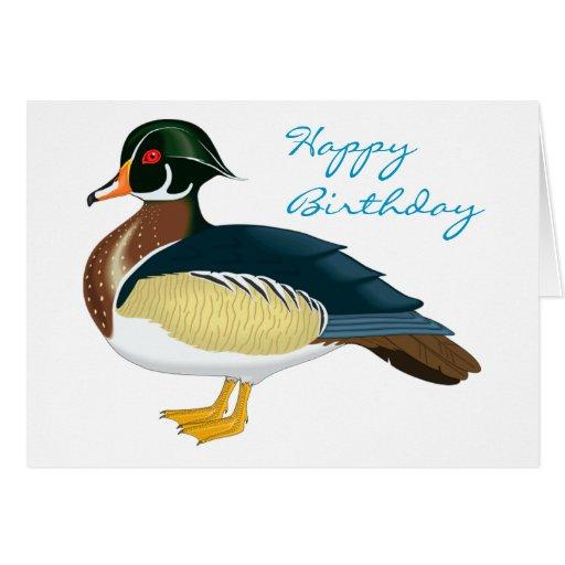 Anniversaire exotique de canard cartes de vœux