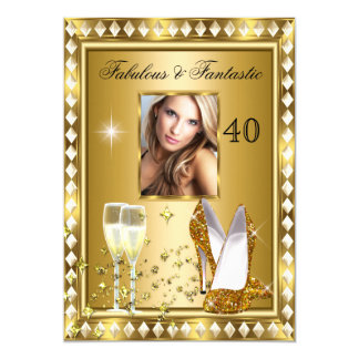 Anniversaire fascinant 4 de Hollywood d'or Carton D'invitation 12,7 Cm X 17,78 Cm