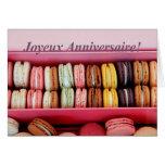 Anniversaire français Macaron-Joyeux Anniversaire Carte De Vœux