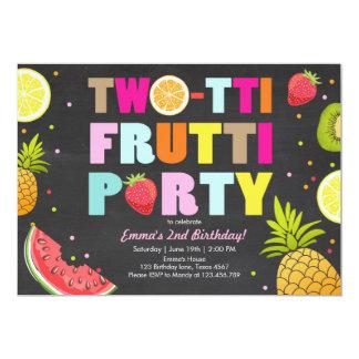 Anniversaire fruité de Tutti d'invitation de Carton D'invitation 12,7 Cm X 17,78 Cm