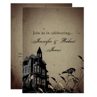 Anniversaire gothique vintage de Raven de crâne de Carton D'invitation 12,7 Cm X 17,78 Cm