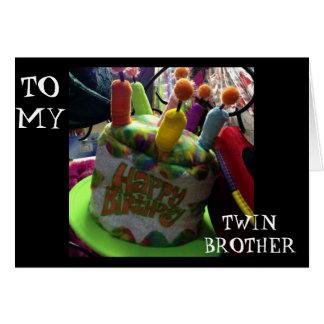ANNIVERSAIRE HAT/WISH DE BROTHER-HERE JUMEAU PAR CARTES