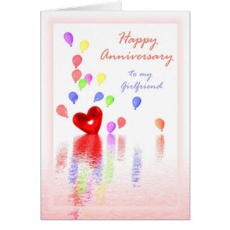 Anniversaire heureux pour l'amie - coeur et cartes
