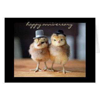 Anniversaire heureux tout à fait à une paire cartes de vœux