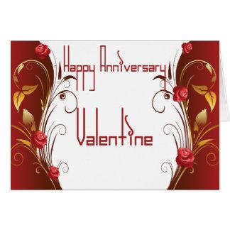 Anniversaire heureux Valentine Carte De Vœux