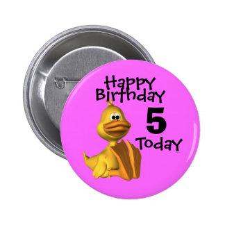 Anniversaire jaune 5 de canard badge