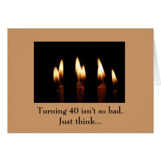 Anniversaire - la rotation de 40 n'est pas aussi carte de vœux