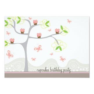 Anniversaire lunatique de bonbon à papillons carton d'invitation  11,43 cm x 15,87 cm