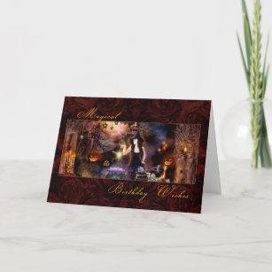 Anniversaire magique - carte de sorcière