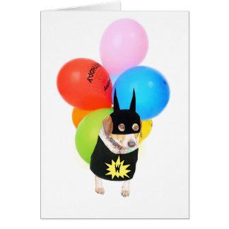 Anniversaire mignon de chien/d'enfant carte de vœux