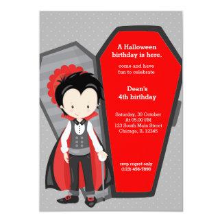 Anniversaire mignon de vampire carton d'invitation  12,7 cm x 17,78 cm