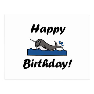 Anniversaire Narwhal Carte Postale