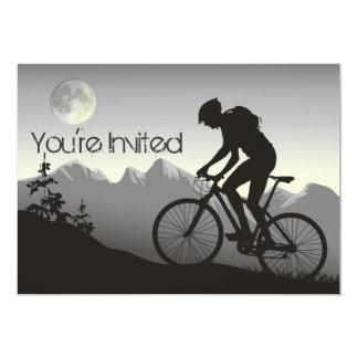 Anniversaire personnalisé de vélo de montagne de carton d'invitation  12,7 cm x 17,78 cm