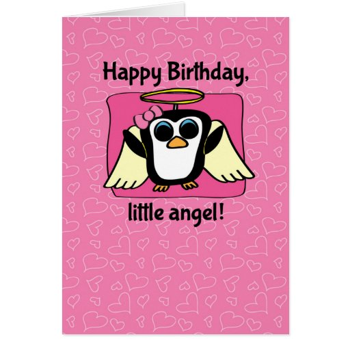 Anniversaire pour la fille - peu de pingouin d'ang carte de vœux