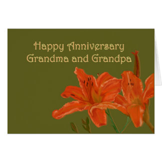 Anniversaire pour la grand-maman et le grand-papa carte de vœux