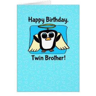 Anniversaire pour le frère jumeau - peu de pingoui cartes