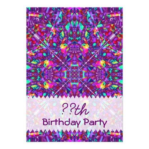 Anniversaire pourpre de hippie de mandala carton d - Mandala anniversaire ...