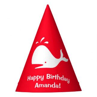 Anniversaire rouge 4Amanda (nom) de baleine Chapeaux De Fètes