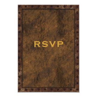 Anniversaire RSVP de garçons d'effet encadré par Carton D'invitation 8,89 Cm X 12,70 Cm