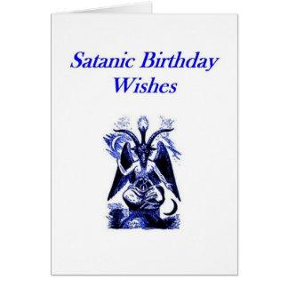 Anniversaire satanique/Demonolatry Carte De Vœux
