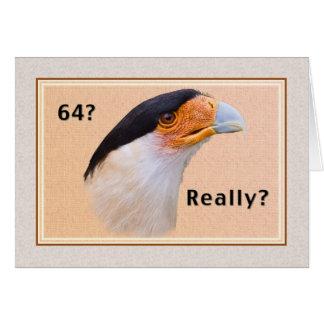 Anniversaire, soixante-quatrième, oiseau crêté de  cartes