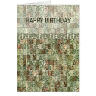 Anniversaire vert de tuile cartes de vœux