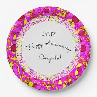 Anniversary_Birthday_Mod+Floral_Lace-Template Assiettes En Papier