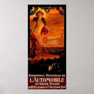 Annonce 1907 vintage d'automobile de ~ de salon de posters