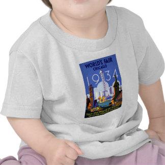 Annonce 1934 vintage de l'Exposition universelle d T-shirts