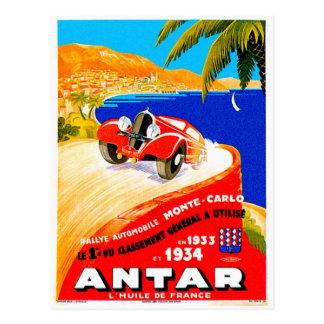 Annonce automatique vintage d'épreuve sur route de cartes postales