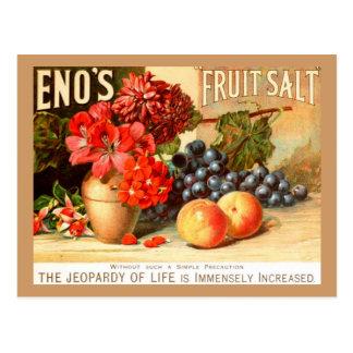 Annonce colorée de sel de fruit carte postale