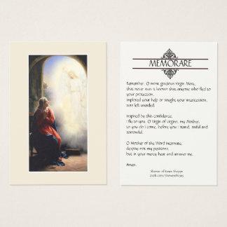 Annonce des cartes saintes de prière de Mary