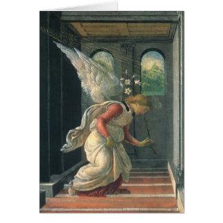 Annonce (détail d'ange) par Sandro Botticelli Cartes